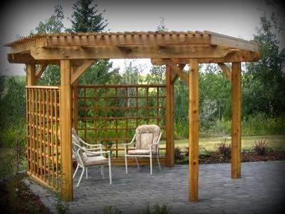 Pergola privacy screen designs